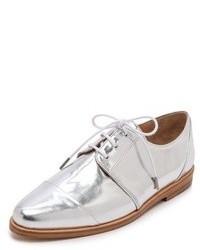 Женские серебряные кожаные туфли дерби от Thakoon