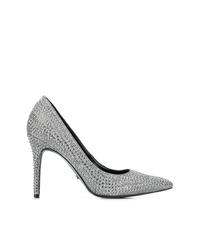 Серебряные кожаные туфли с украшением от Michael Kors