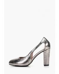 Серебряные кожаные туфли от Allora