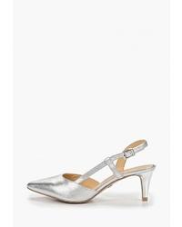 Серебряные кожаные туфли от Caprice