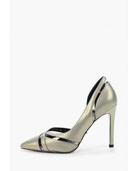 Серебряные кожаные туфли от Graciana