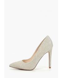 Серебряные кожаные туфли от Ideal Shoes