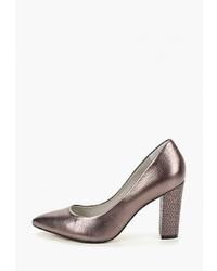 Серебряные кожаные туфли от Indiana