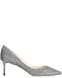 Серебряные кожаные туфли от Jimmy Choo