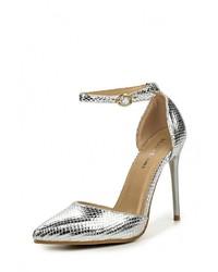 Серебряные кожаные туфли от Malien