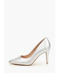 Серебряные кожаные туфли от Super Mode
