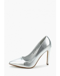 Серебряные кожаные туфли от Sweet Shoes