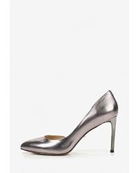 Серебряные кожаные туфли от Vitacci