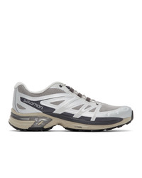 Мужские серебряные кроссовки от Salomon