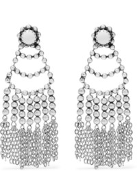 Серебряные серьги из бисера