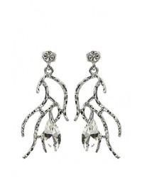 Женские серебряные серьги от Moon Paris