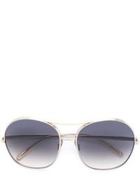 Женские серебряные солнцезащитные очки