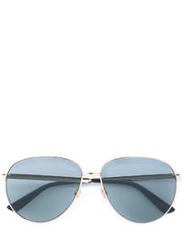 Женские серебряные солнцезащитные очки от Gucci