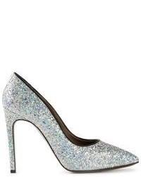 Серебряные туфли с пайетками