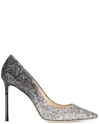 Женские серебряные туфли от Jimmy Choo