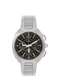 Мужские серебряные часы от Fendi