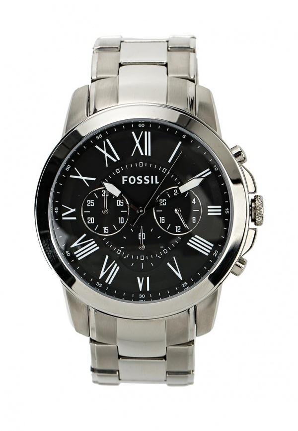 Мужские серебряные часы от Fossil