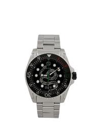 Мужские серебряные часы от Gucci