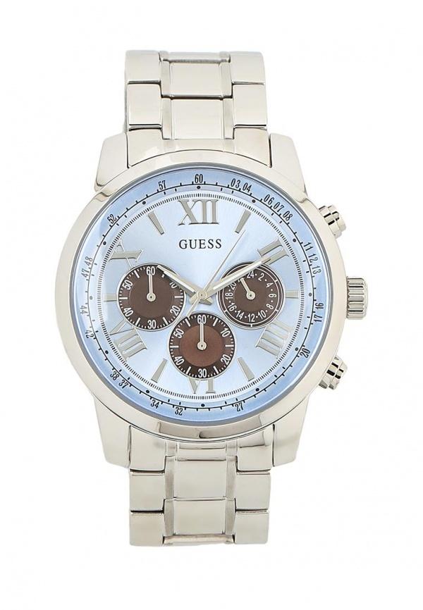 Мужские серебряные часы от GUESS