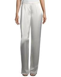 Серебряные широкие брюки