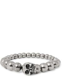 Мужской серебряный браслет из бисера от Alexander McQueen