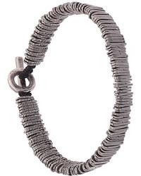 Мужской серебряный браслет из бисера от M. Cohen