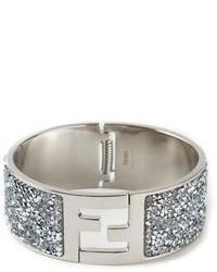 Серебряный браслет с украшением от Fendi