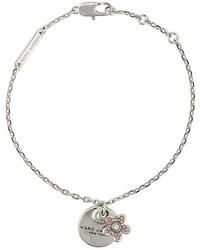 Серебряный браслет с украшением от Marc Jacobs