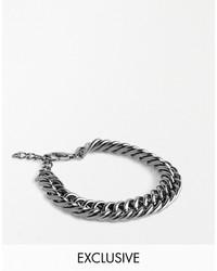 Мужской серебряный браслет от Asos