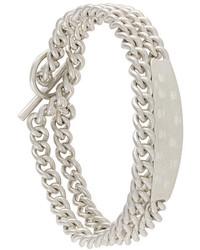 Мужской серебряный браслет от Maison Margiela