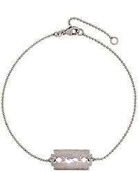 Мужской серебряный браслет от Saint Laurent