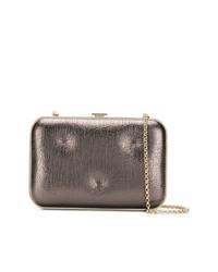Серебряный кожаный клатч от Anya Hindmarch