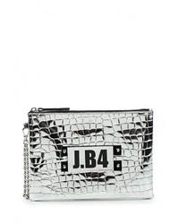 Серебряный кожаный клатч от J.B4