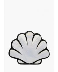 Серебряный кожаный клатч от Kawaii Factory