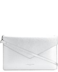 Серебряный кожаный клатч от Lancaster