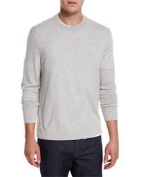 Серебряный свитер с круглым вырезом