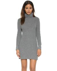 Женское серое вязаное платье-свитер от 525 America