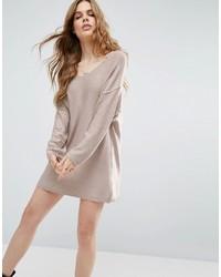 Женское серое вязаное платье-свитер от Asos