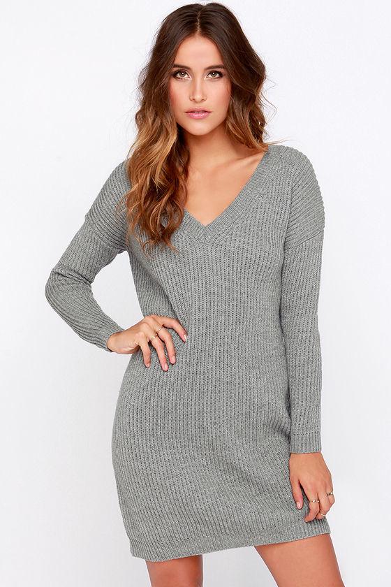 Купить платье серое вязаное