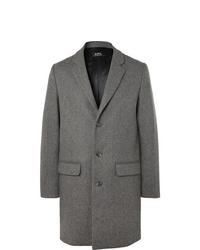 Серое длинное пальто от A.P.C.