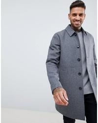 Серое длинное пальто от ASOS DESIGN