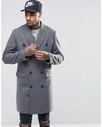 Мужское серое длинное пальто от Asos