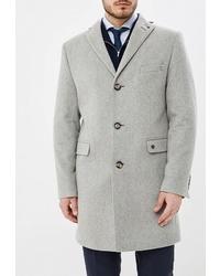 Серое длинное пальто от Bazioni