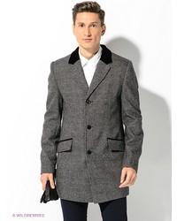 Мужское серое длинное пальто от Berkytt