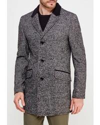 Серое длинное пальто от Berkytt