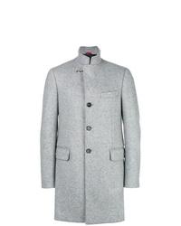 Серое длинное пальто от Fay