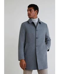 Серое длинное пальто от Mango Man