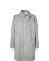 Серое длинное пальто от Sacai