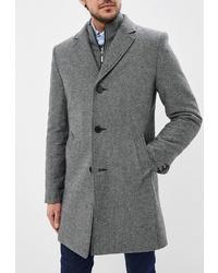 Серое длинное пальто от Sainy