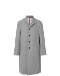Серое длинное пальто от Thom Browne